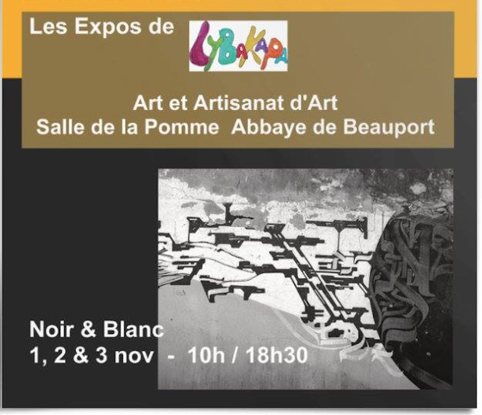 Noir & Blanc | 1 au 3 nov. 2019